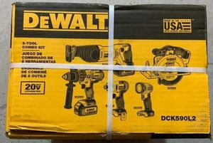 DEWALT 5 Tool 20-Volt Max Power Tool Combo Kit (Charger and 2-Batteries)...firm..Price: $320 for Sale in Houston, TX