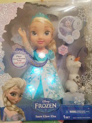 Disney Frozen Singing Light Up Snow Glow Bilingual Elsa & Olaf for Sale in Henderson, NV