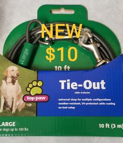 NEW 10ft Large Dog Tie-Out Cable for Sale in Portland,  OR