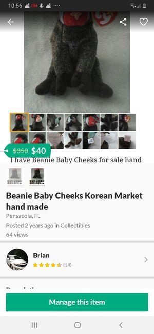 Beanie Baby Cheeks Korean Market hand made for Sale in Pensacola, FL