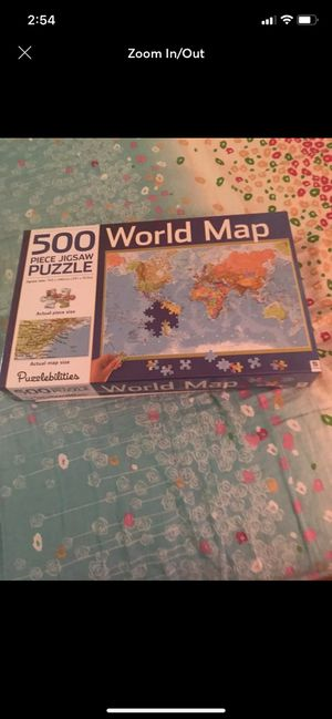 Like new jigsaw puzzle map of the world for Sale in Jacksonville, FL