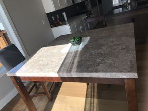 Big marble table very for breakfast bar for Sale in Bellevue, WA