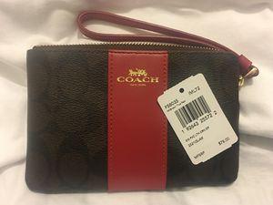 BRAND NEW! Nueva!! COACH PURSE red and brown leather! FREE DELIVERY 🚚 bolsa NUEVA MARCA COACH!! Original de piel! Entrego gratis!$50 OBO for Sale in Los Angeles, CA