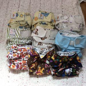 Newborn Pocket Cloth Diaper Set for Sale in Belle Isle, FL