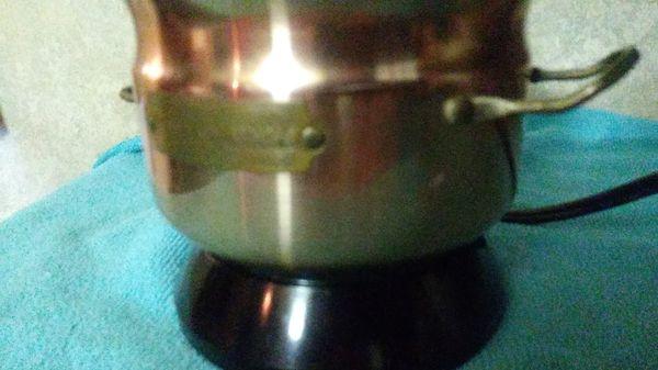 Copper melting pot for hair wax, paraffin, scentsys, potpourri, ete