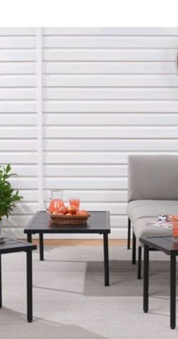 New, Mainstays Dagna 3-Piece steel Patio Coffee Table and 2 Side Table Set for Sale in Columbus,  OH