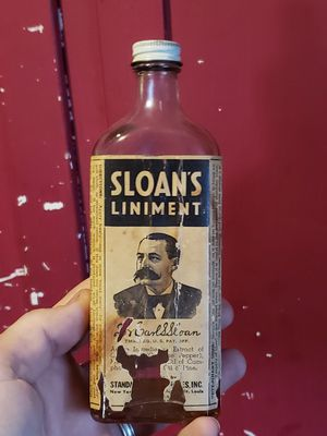 "Antique medicine bottle ""Sloan's Liniment"" (paper label) for Sale in Columbus, OH"