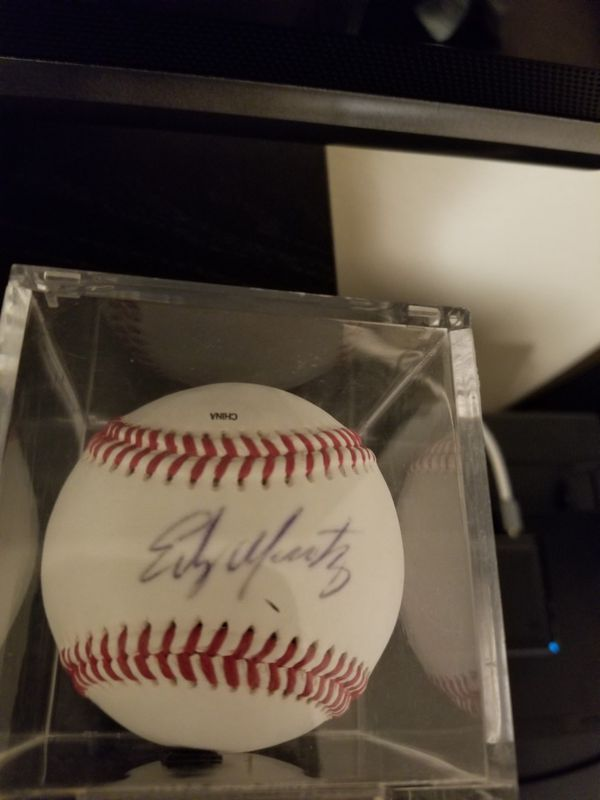 Edgar signed ball and card