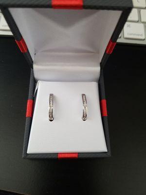 1/4 ct Diamond Sterling Silver hoop Earrings for Sale in Murfreesboro, TN