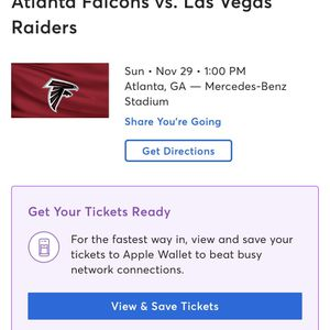 Tickets For Falcons for Sale in Long Beach, CA