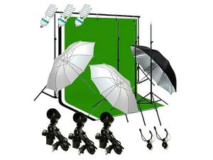 Photography lighting kit with backdrop stands and umbrellas for Sale in Rockville, MD