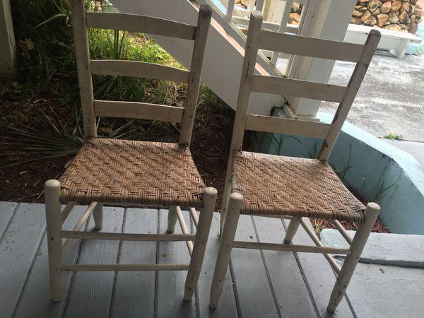 Pair Of Vintage High Back Chairs Merritt Island Fl