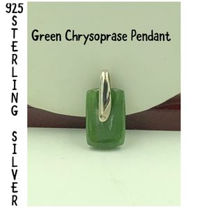 925 STER Silver Green Chrysoprase Pendant for Sale for sale  Painesville, OH