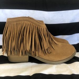 Cognac Suede Fringe Bootie for Sale in Perris, CA