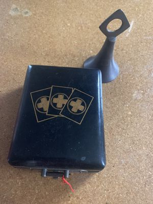 Old Chinese Medicince Box w/ Key , A Bell, and Old Pencil Sharpner for Sale in MI, US