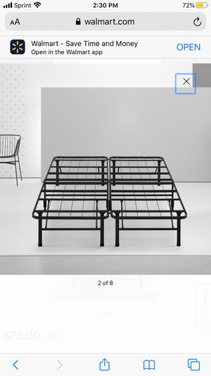 """Spa Sensations by Zinus 14"""" Steel SmartBase Bed Frame Black, Queen for Sale in Schaumburg, IL"""