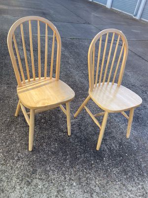 Solid Wood Dining Chairs for Sale in Hampton, VA