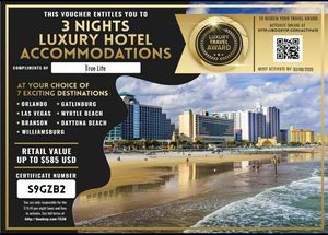 FREE VACATION CERTIFICATE for Sale in Los Angeles, CA