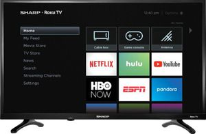 32 inch Sharp LED 720p Smart Hdtv Roku TV for Sale in Los Angeles, CA