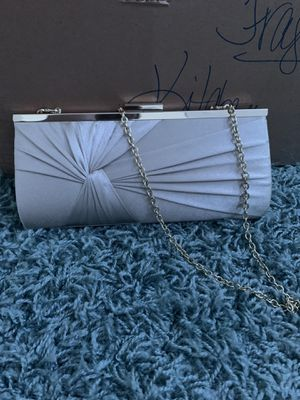 Charming Charlie's RVSP satin gold chain clutch for Sale in Eastampton Township, NJ