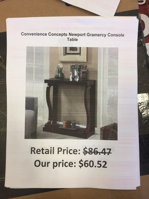 Convenience concepts Newport gramercy console table for Sale in San Leandro, CA