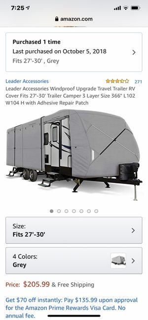 27 - 30 RV / camper cover for Sale in Smyrna, TN