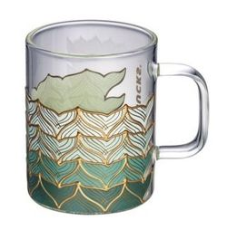 Starbucks Limited Edition 50 Years Anniversary Glass Mug 12oz Sirens Tail for Sale in Clarksville,  MD