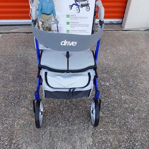 47b584549 Drive Medical Nitro DLX Euro Style Rollator Rolling Walker, Sleek Blue for  Sale in Plano
