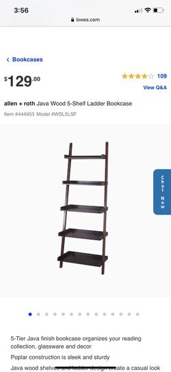 Allen and Roth Ladder Shelf / Bookcase for Sale in Puyallup,  WA