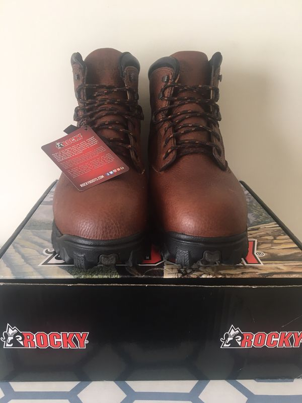 Rocky RKK0190 Work Boots Brown Leather Size 12 and half