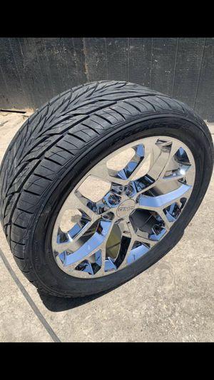 """New 22"""" Denali Rims and Tires 6 Lug Wheels Chevy Silverado Sierra 22s 22 Rines y llantas 2019 Chevrolet 2018 Silverado 2017 Tahoe 2016 GMC 2015 Sierr for Sale in Dallas, TX"""