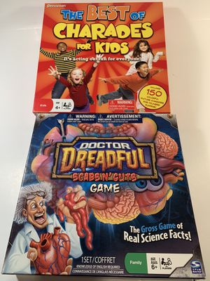 Kids Charades & Doctor Dreadful Science Game for Sale in Henderson, NV