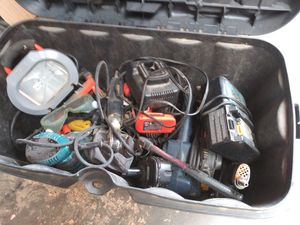 Tools. Used. Makita charger dewalt batter and chargers. Drills and misc. Power Tools for Sale in Norwalk, CA