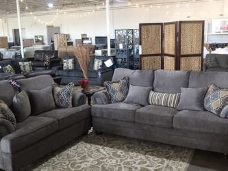 Beautiful Grey Love Seat And Sofa Set!! Take It Home Today !! $49 Down!! for Sale in Dallas,  TX