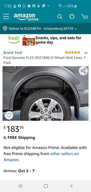 2015-20 FORD F-150 WHEEL WELL LINER for Sale in Schaumburg, IL