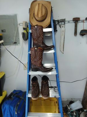 H&H cowboy boots,Red wing work boots,and a hat to boot for Sale in Nashville, TN