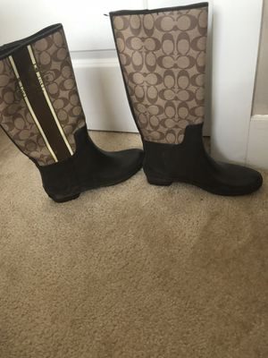Coach rain boots for Sale in Cary, NC