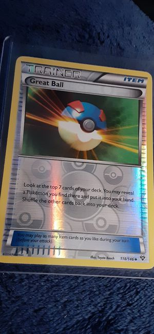 Great Ball Trainer Card Pokemon Holo foil for Sale in Garland, TX