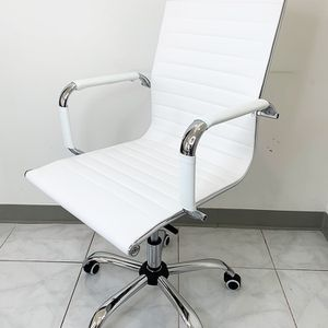 New $85 Modern Computer Office Chair Mid Back Recline Adjustable Seat PU Leather for Sale in Whittier, CA