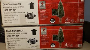 Two 4 ft Pre Lit Holiday Tree for Sale in San Angelo, TX