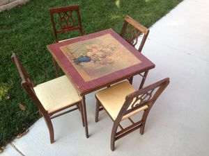 Antique folding table card table for Sale in Morton, IL