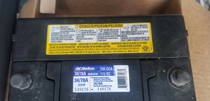 Ac delco battery for Sale in Evansville, IN