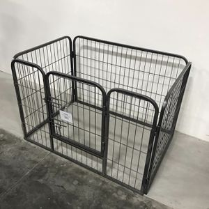 New in box 37 length x 26 wide x 25 inches tall 4 panels playpen dog cage crate kennel for pet for Sale in Whittier, CA