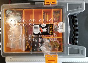"Perel Tools 10"" Hobby Organizer (w/ Assortment of Electronic pieces) for Sale in Alexandria, VA"