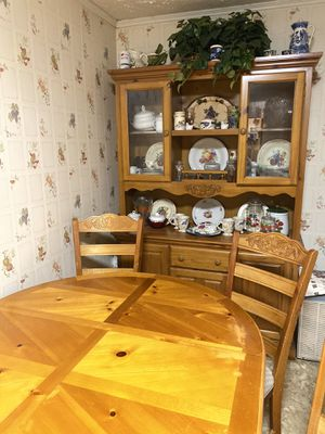 Kitchen Table and Hutch for Sale in Yorktown, VA