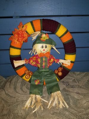 13 inch hand crafted crochet fall wreath for Sale in Summersville, WV