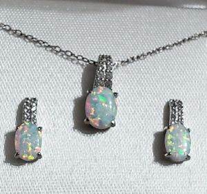 Opal Earring and Necklace set for Sale in Blue Springs, MO