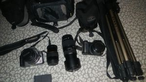 Canon camera, tamron lens, fujifilm camera with tripod for Sale in Modesto, CA
