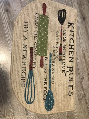 Kitchen decorate mat for Sale in Mount Laurel Township, NJ