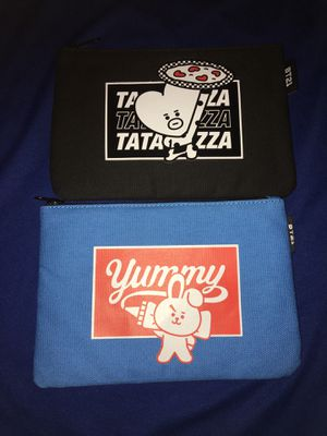 BT21 TATA,COOKY CHARACTER POUCH for Sale in Los Angeles, CA